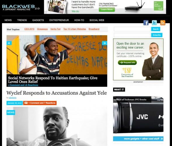 BlackWeb20.com homepage